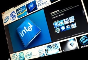 Belgrade - Januar 29, 2014: Google Image Search For Intel Logo P